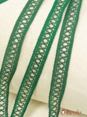 Кружево цв. зеленый, 18 мм, хлопок-79%, п/э-21%