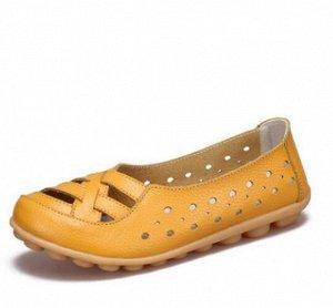 Кожаные летние туфли, очень мягкие! 39 размер
