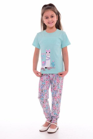 Пижама подростковая 12-037 (ментол+розовый),