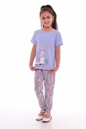 Пижама подростковая 12-037б (голубой+розовый),