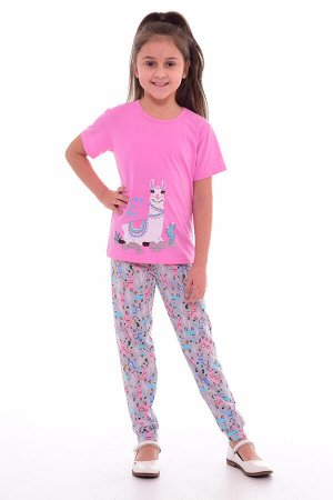 Пижама подростковая 12-037а (розовый),