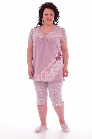 Пижама женская 1-135а (сухая роза)