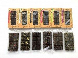 КОМБО №1 Промо-набор из 12 чайных шоколадок. В наборе: ЧШК.02 - Китайский жасмин - 2 шт.  ЧШК.03 - Иван-чай с мятой, брусникой и сосновой почкой - 2 шт.  ЧШК.05 - Ассам Gold - 2 шт.  ЧШК.06 - Бергамо