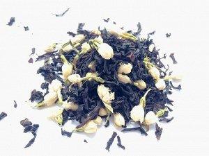 Жасмин Бленд крупнолистового черного индийского чая и цветов жасмина.
