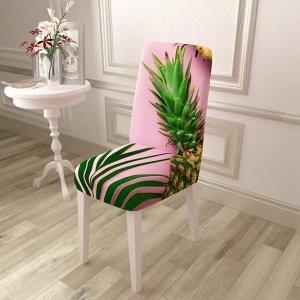 Чехол для стула Ананас на розовом