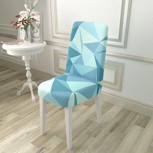 Чехол для стула Голубая абстракция