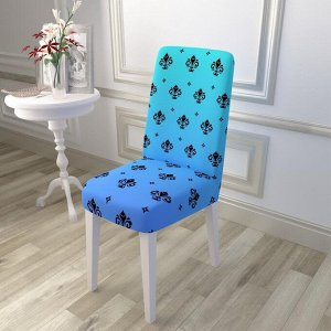 Чехол для стула Королевский орнамент синий