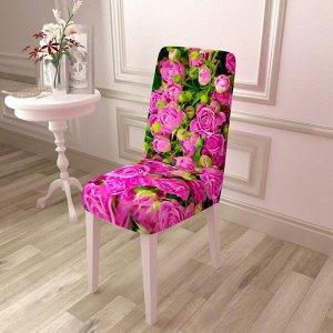 Чехол для стула Кустик с яркими розами