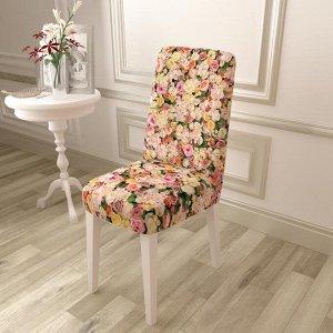 Чехол для стула Поле бежевых роз