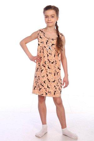 Сорочка детская, персик