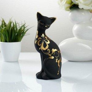 """Фигура """"Кошка ушастая"""" 7?8?19см 088 черная"""