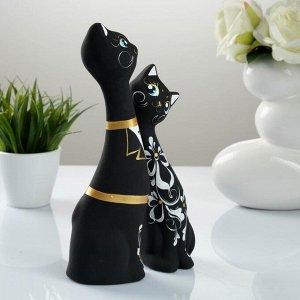 """Фигура """"Love Коты"""" большие набор 2шт черные 7?9?24см 039"""