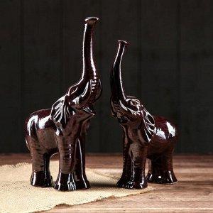 """Сувенир """"Слон пара"""". коричневая. 25 см"""