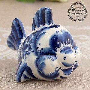 Сувенир «Рыбка», 8 см, гжель