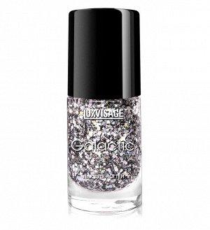 LUXVISAGE Лак для ногтей Galactic,  тон 206 благородное серебро