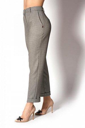 Бежевые классические укороченные брюки