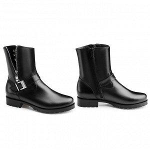 Стильные ботинки с прямым голенищем. Модель 3173 н (зима)