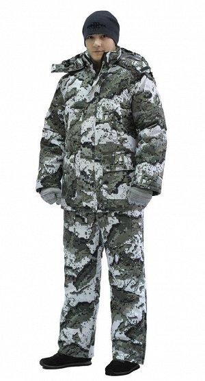 """Костюм мужской """"Тайга"""" зимний, куртка/полукомб.,подкл. термофольга, тк.мембр. Алова,кмф Серые Соты"""