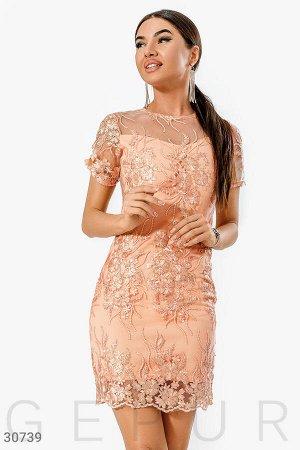 Коктейльное платье-сетка