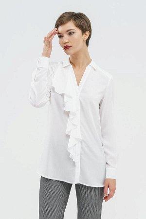 Блузка с асимметричным воланом