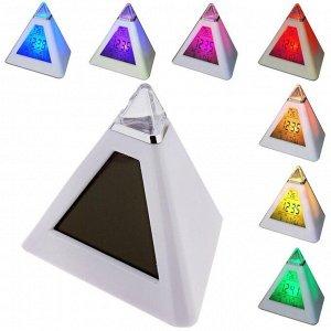 """Будильник LuazON LB-05 """"Пирамида"""". 7 цветов дисплея. термометр. подсветка. МИКС"""