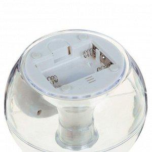 Будильник LuazON LB-06. 7 цветов дисплея. 6 мелодий. прозрачный