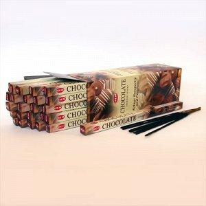 Благовония HEM, четырехгранники, Сhokolate (Шоколад), 8шт. в упаковке