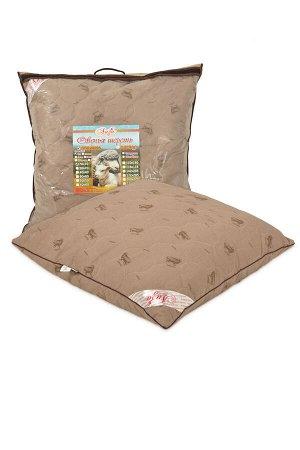 Подушка Подушка с содержанием волокон овечьей шерсти. Чехол простеган на многоигольной машине с термофиксированным полотном «Овца» плотностью 100г/кв.м Наполнитель - искусственный лебяжий пух (высокос