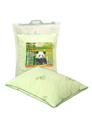 Подушка Подушка с содержанием бамбуковых волокон. Чехол простеган на многоигольной машине с термофиксированным полотном «Бамбук» плотностью 100г/кв.м Наполнитель - искусственный лебяжий пух (высокосил