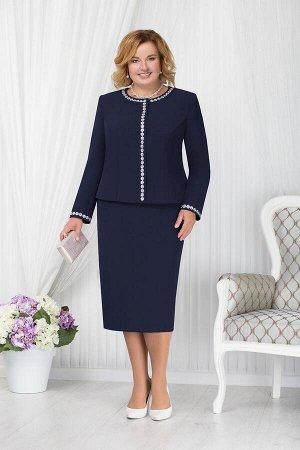 Жакет, юбка Ninele 7207 синий