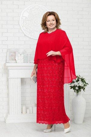 Платье, накидка Ninele Артикул: 2186 красный