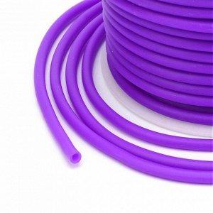 Шнур резиновый полый, 2мм, пурпурно-фиолетовый