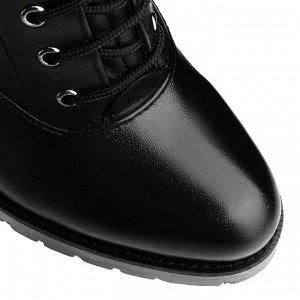 Высокие женские ботинки со шнуровкой. Модель 3212 б (демисезон)