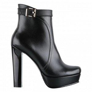 Модные ботинки на платформе и устойчивом каблуке. Модель 3163 б (демисезон)