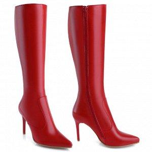 Красные классические сапоги. Модель 1243 б эк красные (демисезон)