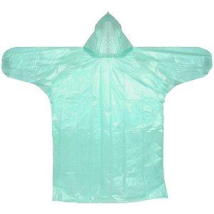 """Дождевик 20 Мкрн 115см """"Классик"""" с капюшоном и завязками, зеленый ДоброСад"""