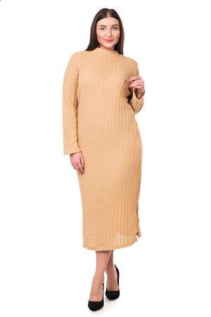 Платье П 670 (бежевый)