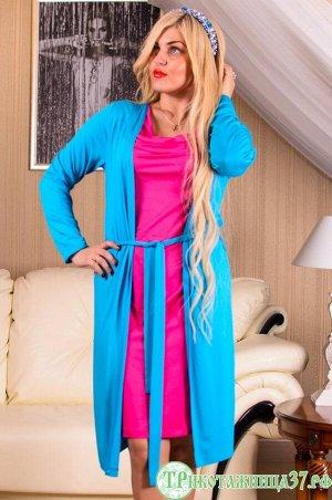 Платье П 89 (бирюзовый+фуксия)