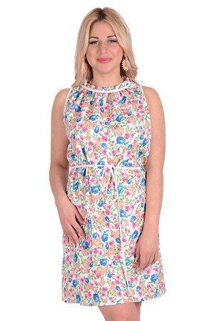 Платье П 700/2 (принт розочки)