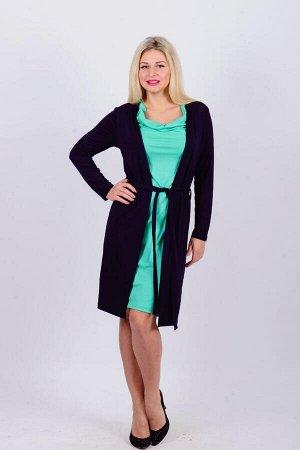 Платье П 89 (темно-синий+салатовый)