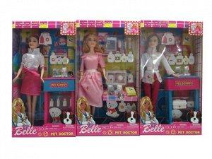 Кукла 8314161Y Belle Ветеринар с питомцем и аксесс. в кор.