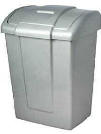 Контейнер для мусора, 13 л, с крышкой, пластик, ФОРТЕ, 374 х 278 х 224 мм, 1/10