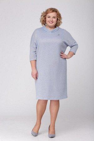 МИШЕЛЬ Шик 549.С1 Платье-двойкасеро-голубой