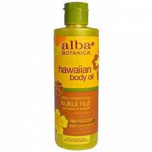 Alba Botanica, Гавайское масло для тела, Орех кукуй, 8,5 жид. унций (251 мл)