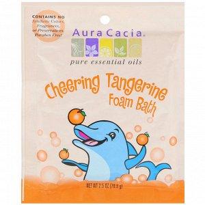 Aura Cacia, Cheering Foam Bath, Tangerine, 2.5 oz (70.9 g)