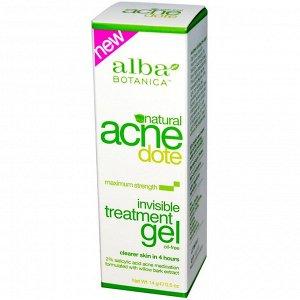 Alba Botanica, Acne Dote, Invisible Treatment Gel, Oil-Free, 0.5 oz (14 g)
