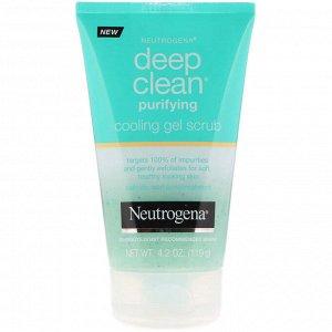 Neutrogena, Deep Clean, очищающий и освежающий гель-скраб, 4,2 унции (119 г)
