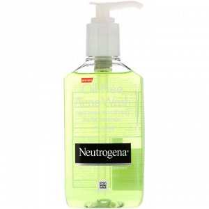 Neutrogena, Средство для умывания от угревой сыпи без масла, Очищающее средство для лица, уменьшающее красноту, 6 ж. унц.(177 мл)