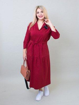 Платье Эврика бордовый
