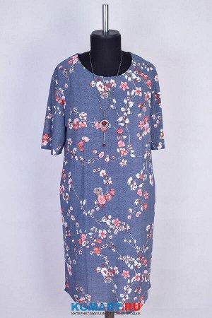 Платье миди без застежки из ткани масло